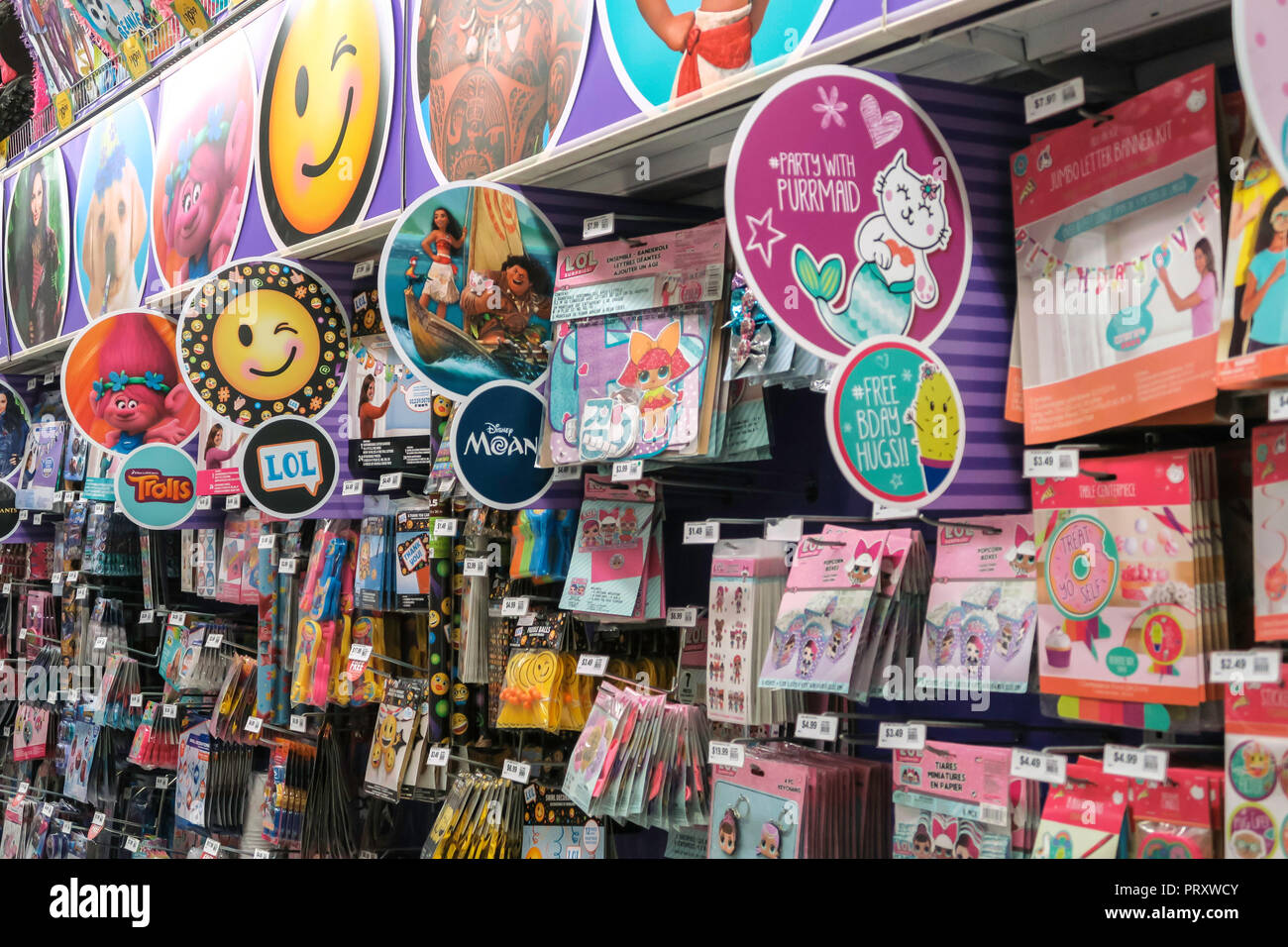 Party Supplies Store Stock Photos & Party Supplies Store Stock