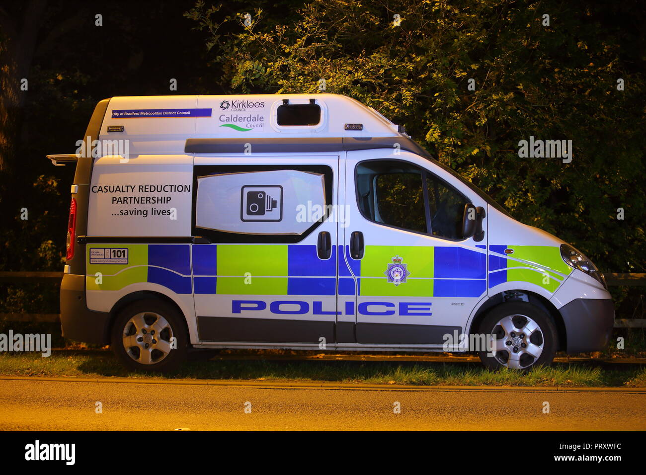 72586c4ae1 A mobile speed camera van from West Yorkshire Police Force parked in a lay  by in