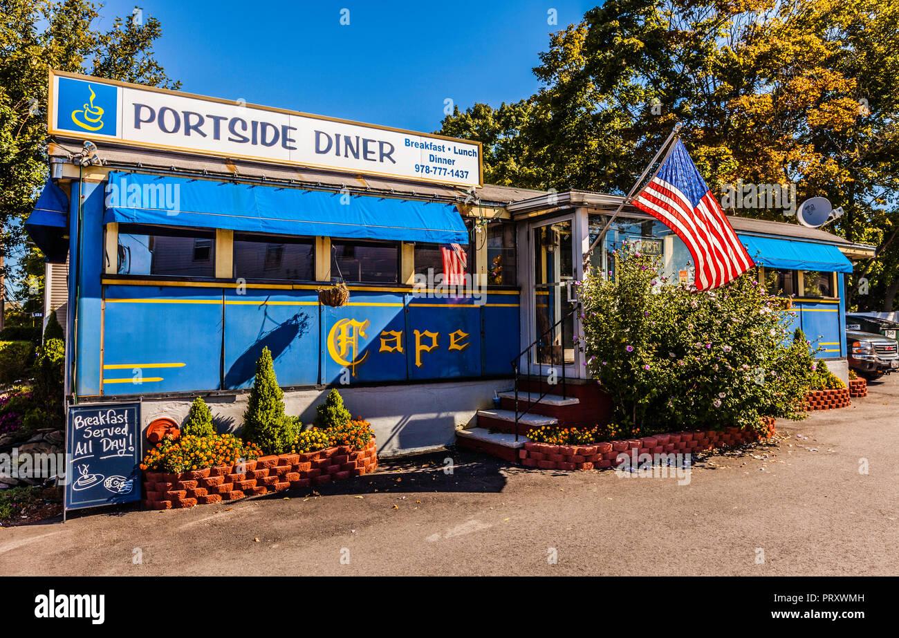 Portside Cape Ann Diner _ Danvers, Massachusetts, USA - Stock Image