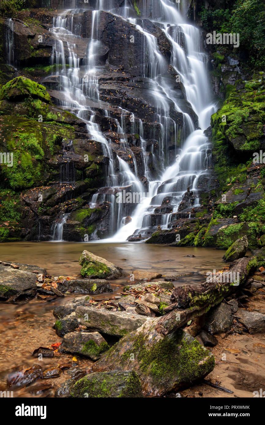 Eastatoe Falls - Rosman, North Carolina, USA - Stock Image