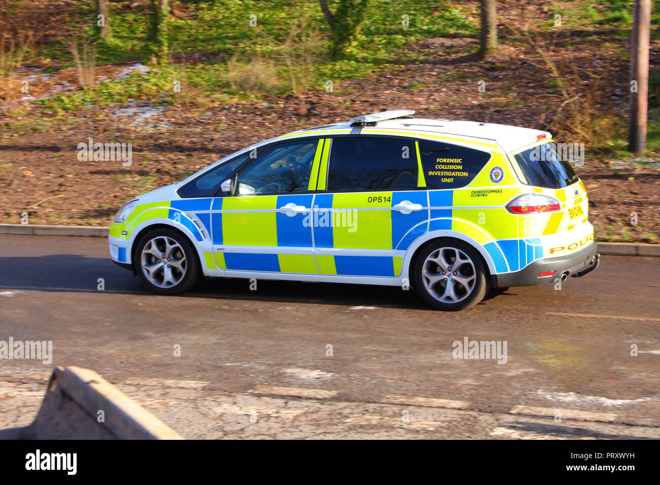 A Collision Investigation Unit vehicle at Central Motorway Police Group Headquarters at Perry Barr in Birmingham - Stock Image