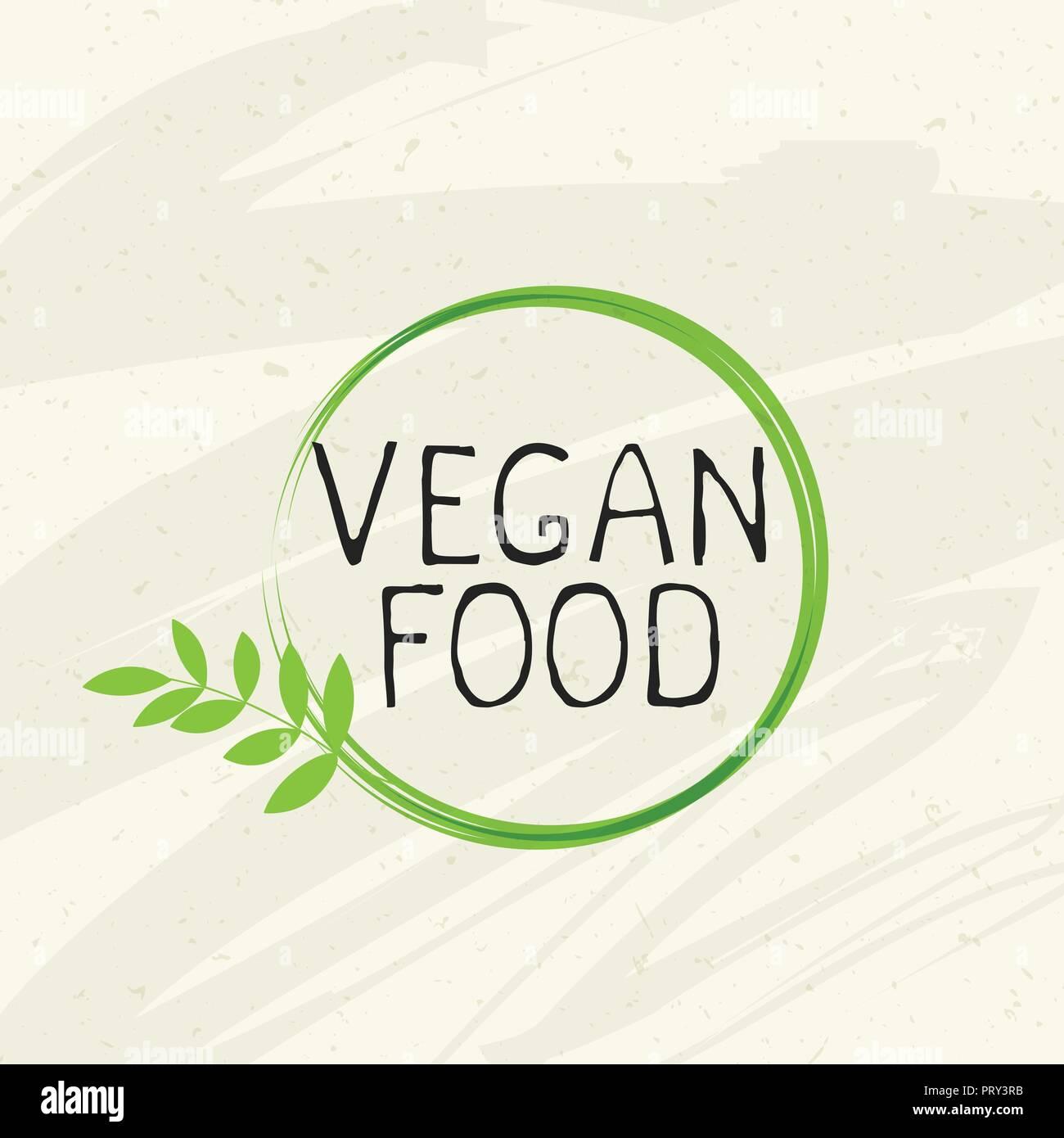 Vegan food label icon emblem Natural product 100 bio healthy organic