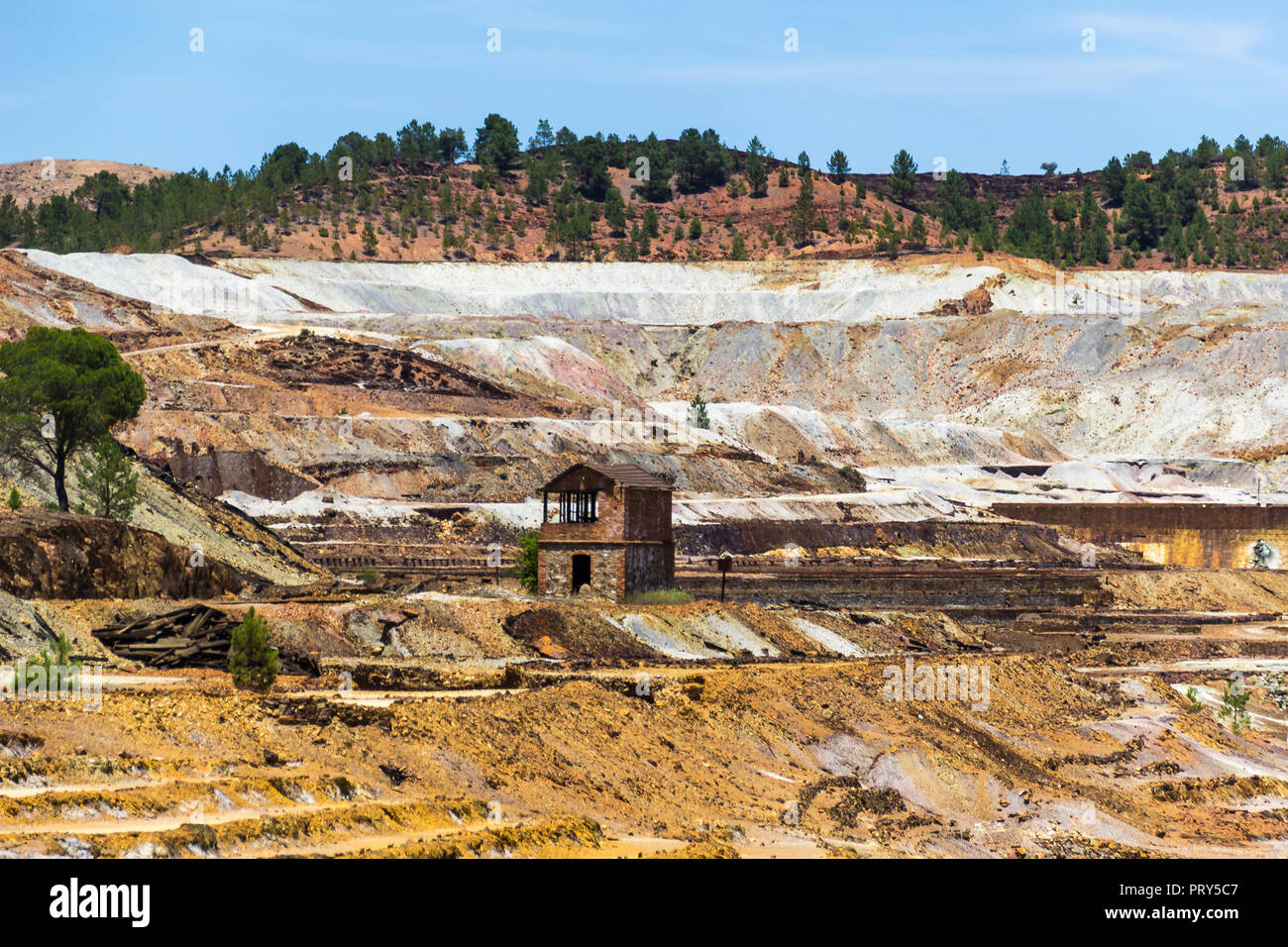Old building in mining area - Stock Image