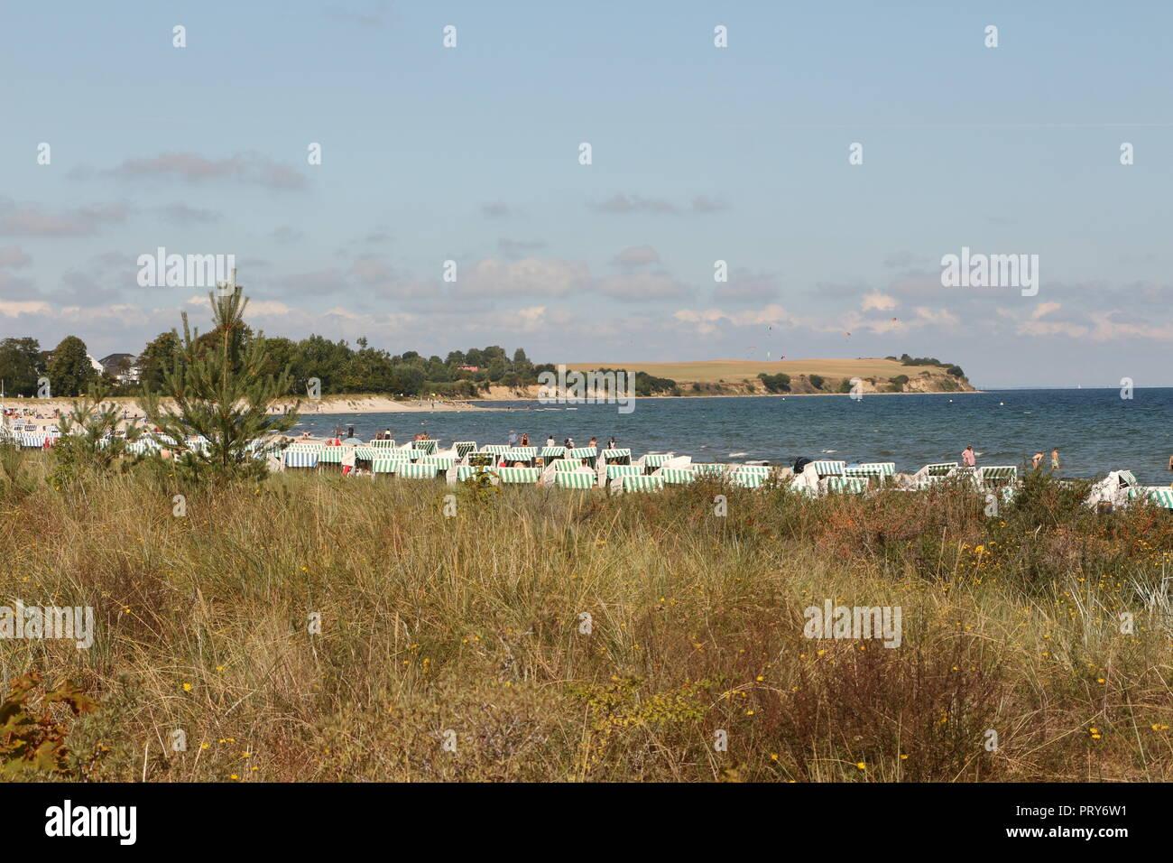Urlaub in Boltenhagen an der deutschen Ostseeküste - Stock Image