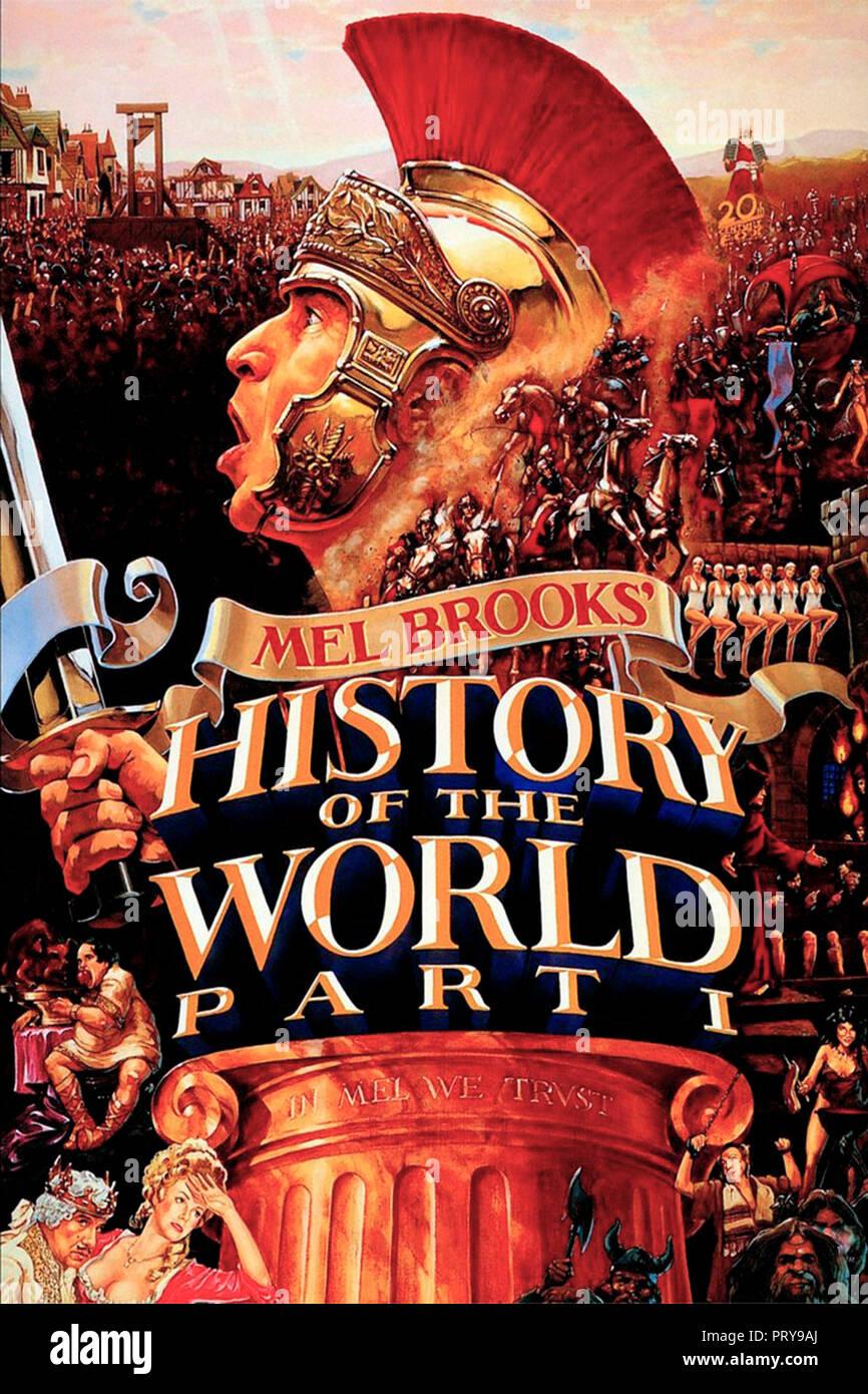 Prod DB © Brooksfilms / DR LA FOLLE HISTOIRE DU MONDE HISTORY OF THE WORLD de Mel Brooks 1981 USA affiche americaine histoire; history; parodie; parod Stock Photo