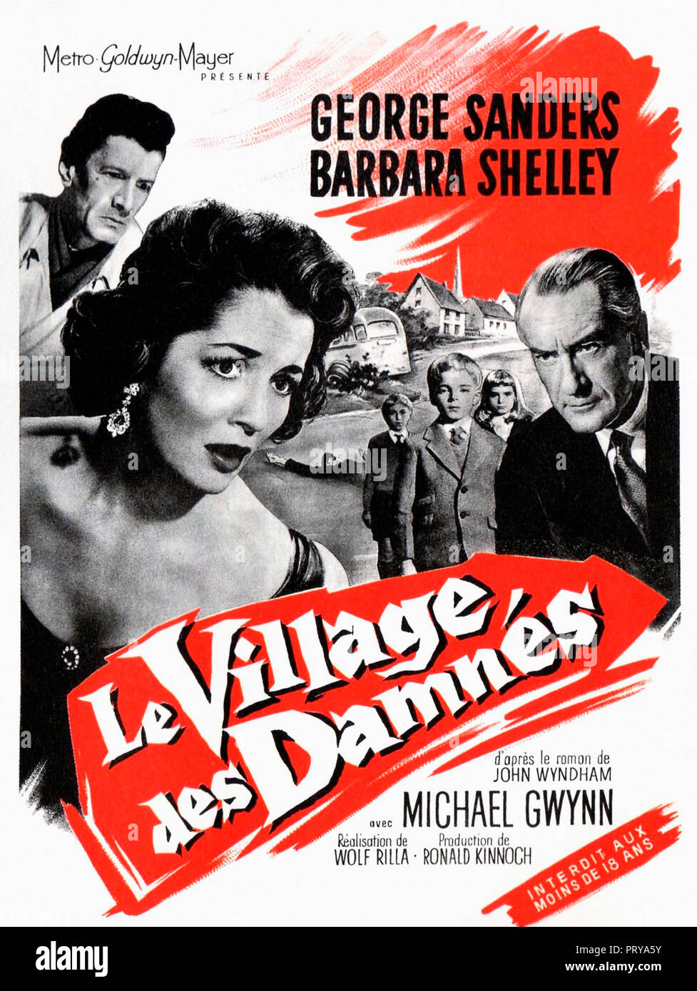 Prod DB © Metro-Goldwyn-Mayer British Studios / DR LE VILLAGE DES DAMNES VILLAGE OF THE DAMNED de Wolf Rilla 1960 GB affiche française fantastique; fa - Stock Image