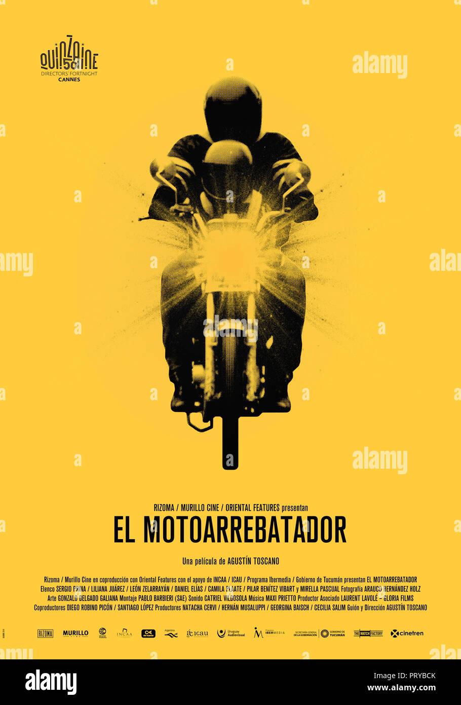 Prod DB © Rizoma Films - Murillo Cine - Oriental Films - Gloria Films / DR EL MOTOARREBATADOR de Agustin Toscano ARG./URUG. affiche espagnole festival - Stock Image