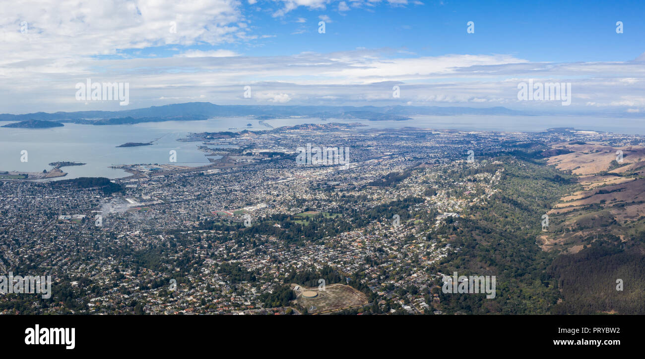 The San Francisco Bay Area has a complex network of infrastructure that supports one of the most populous areas on the west coast of the U.S. - Stock Image