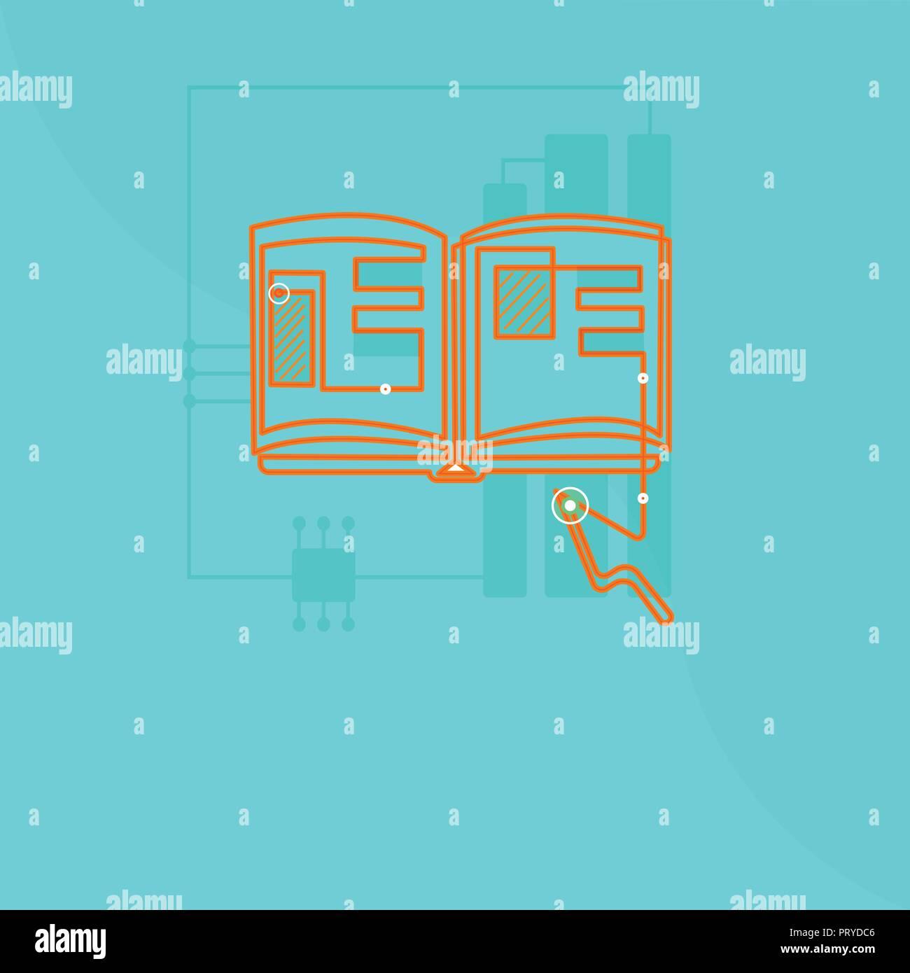 flat design business vector illustration concept empty template copy