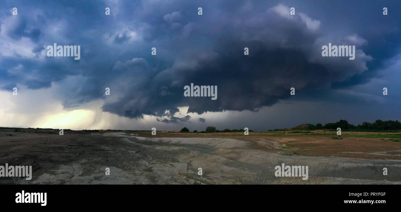 Tornado in Schwechat Stock Photo