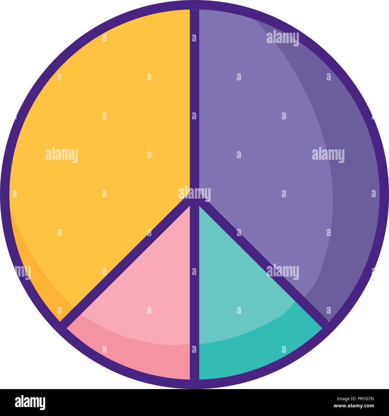 statistics pie isolated icon vector illustration design Stock Vector