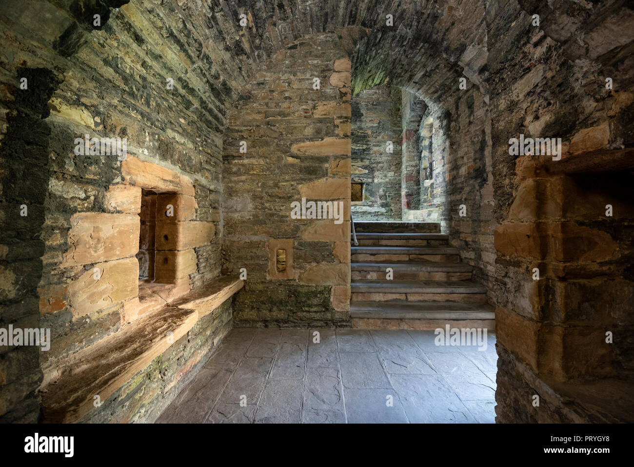 Earl's Palace Castle Ruin, Kirkwall, Mainland, Orkney Islands, Scotland, United Kingdom - Stock Image