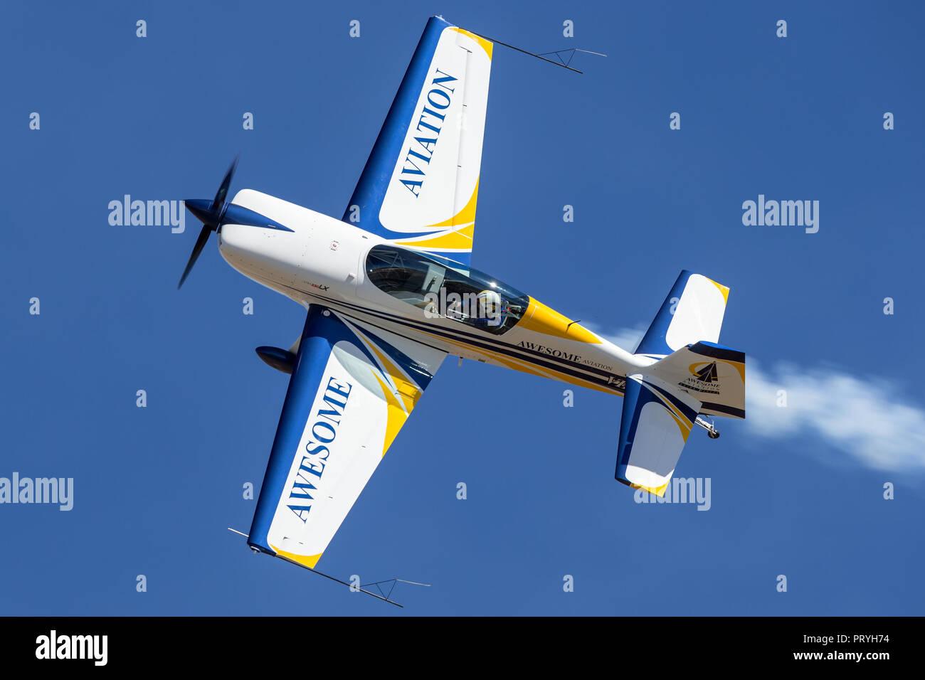British aerobatic pilot Mark Jefferies flying a single