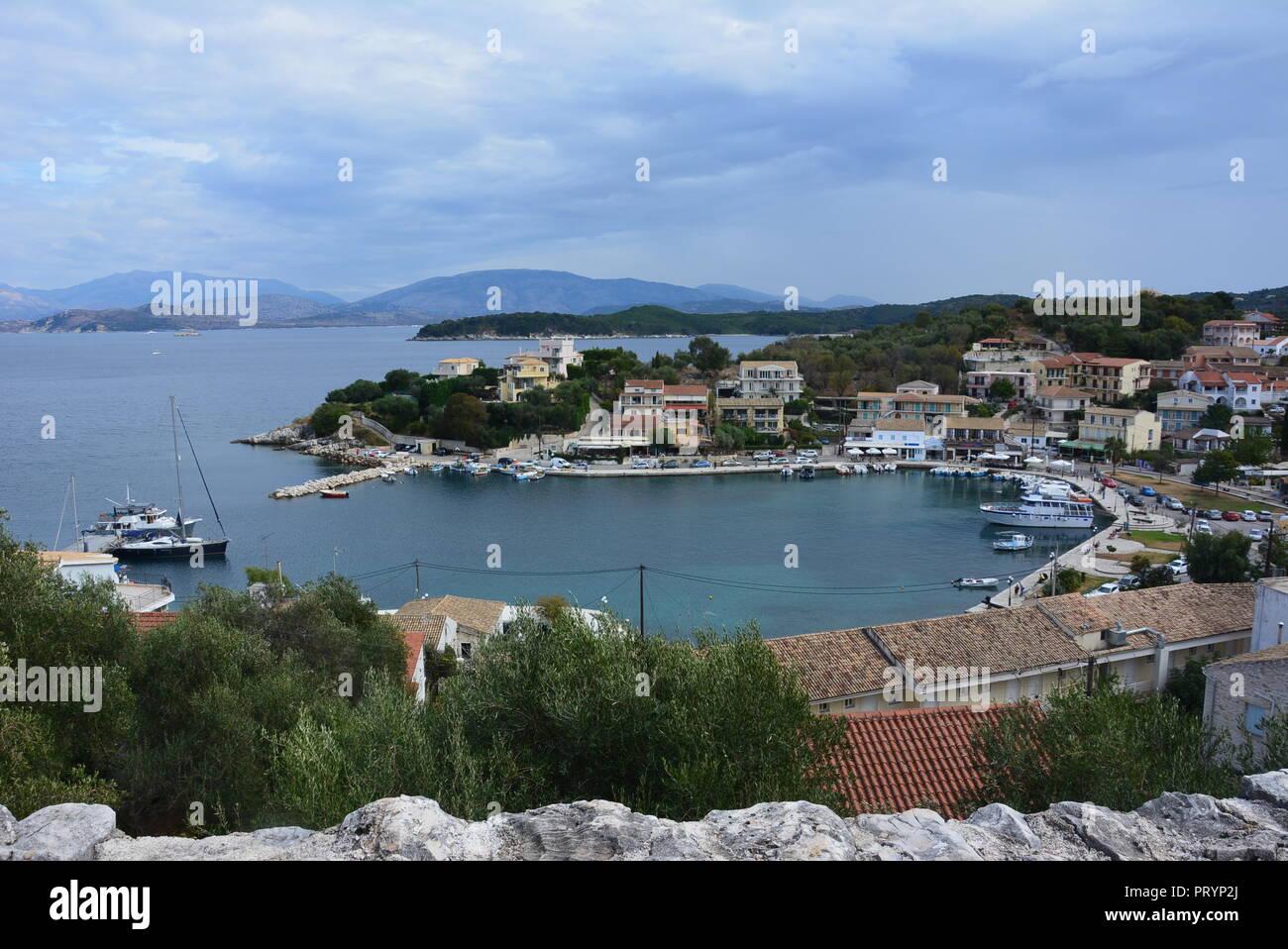 Kassiopi Bay, Corfu Stock Photo