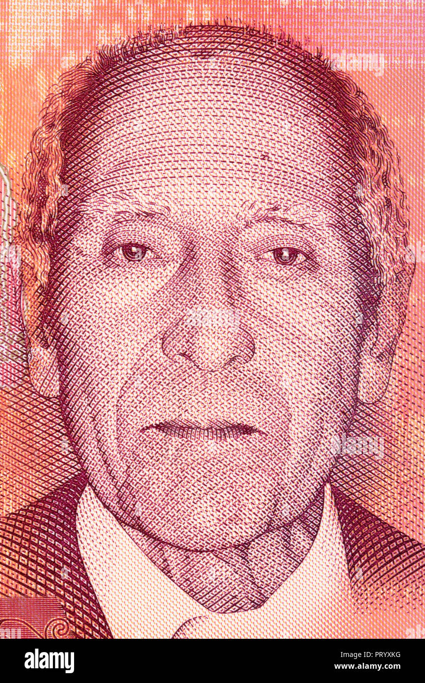 Henrique Teixeira de Sousa portrait from money - Stock Image