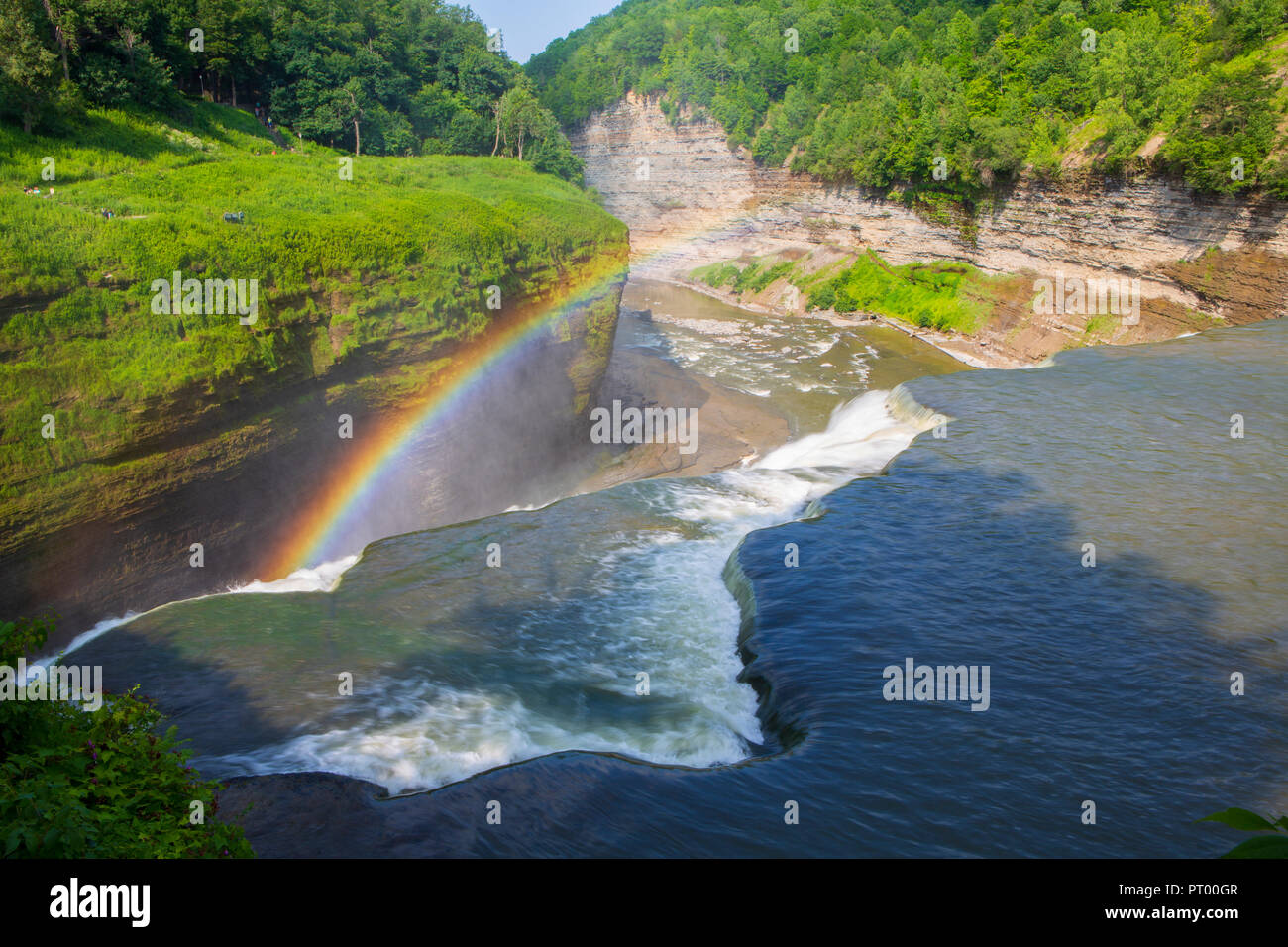 Letchworth State Park is a 14,427-acre state park located in Livingston and Wyoming counties, New York and is considered the Grand Canyon of the east. - Stock Image