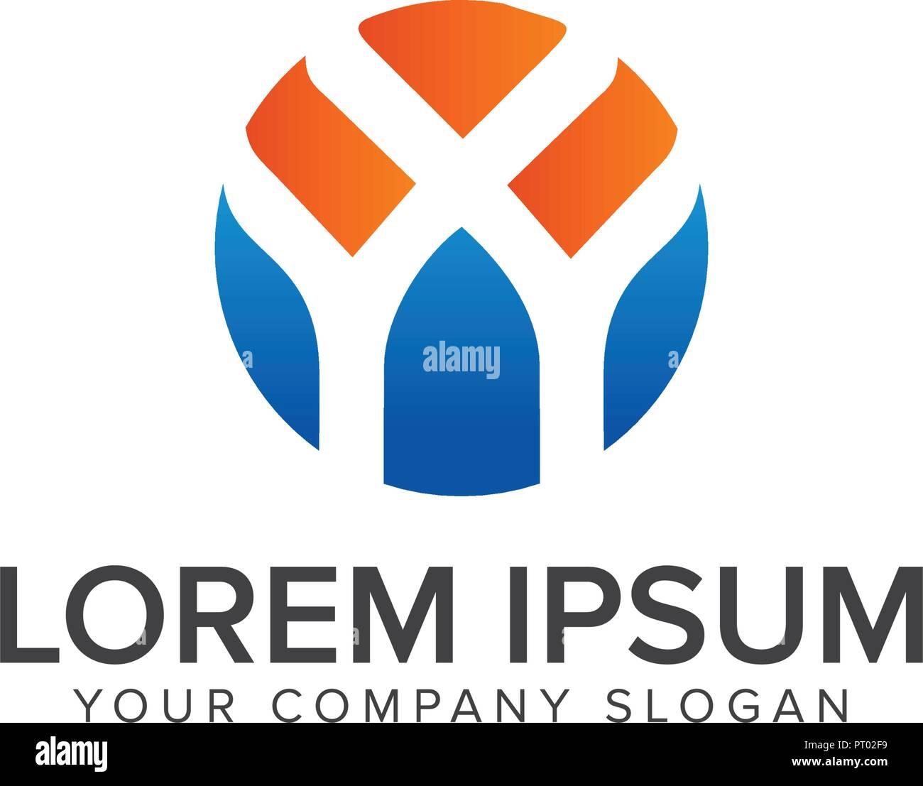 letter y logo design concept template