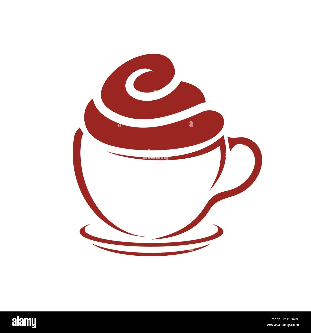 Coffee And Cupcake Cafe Vector Icon Symbol Graphic Logo Design