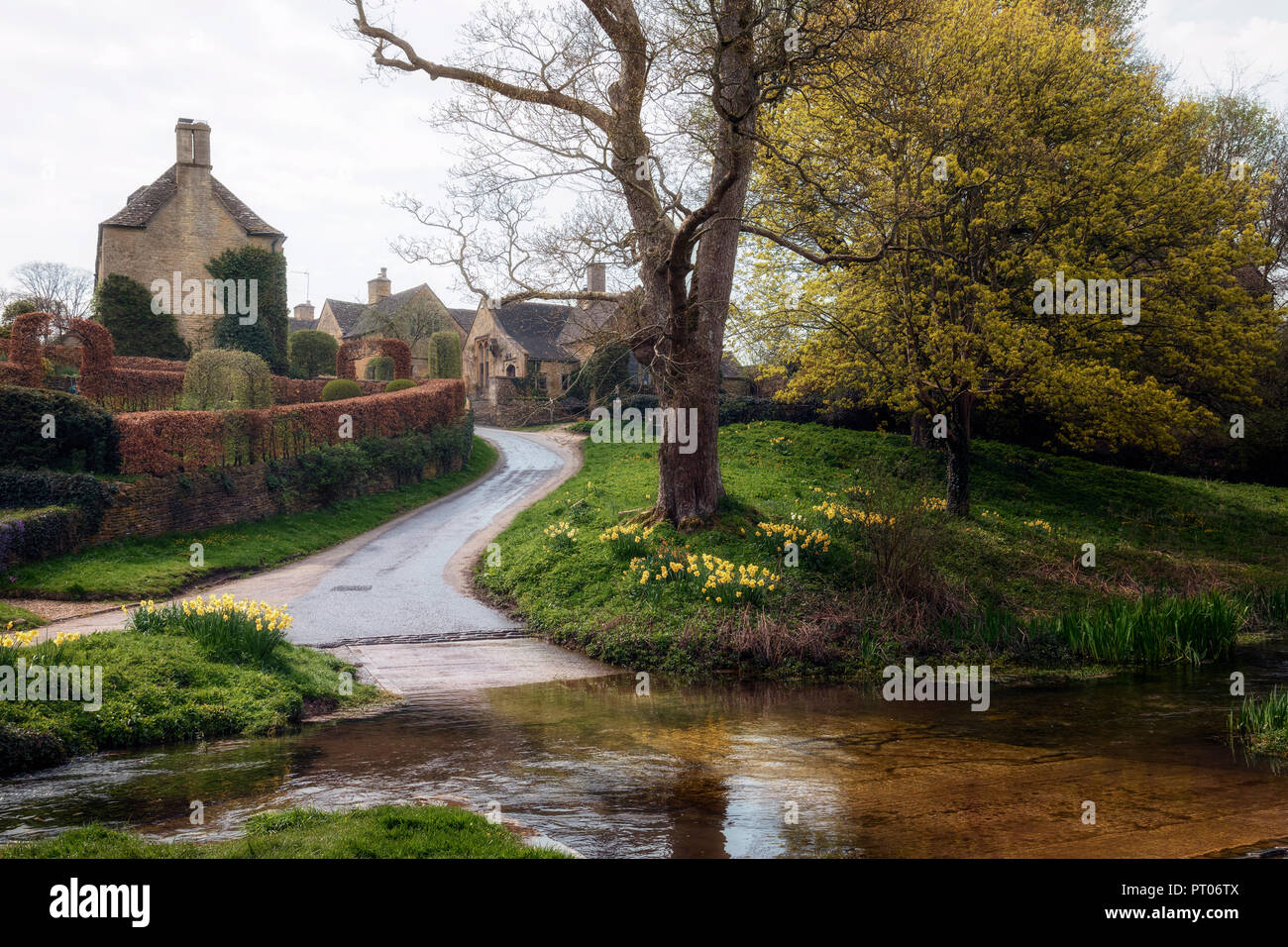 Upper Slaughter, Cotswold, Gloucestershire, England, UK - Stock Image
