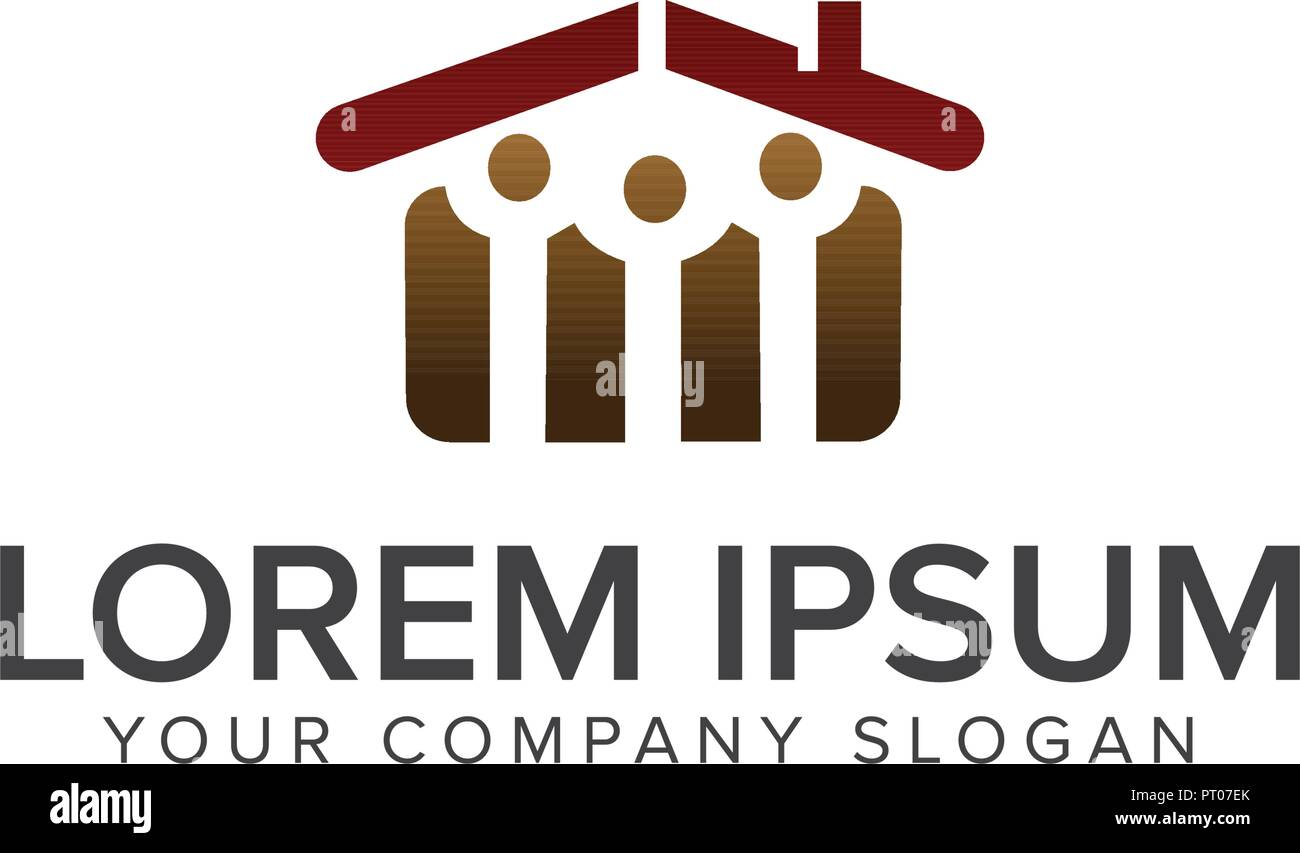 real estate people logo. Architectural Construction design concept template - Stock Vector