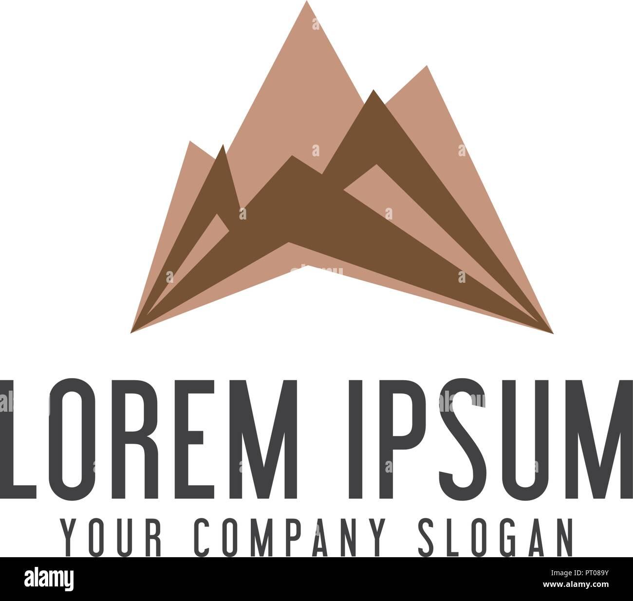 modern mountain logo design concept template - Stock Vector