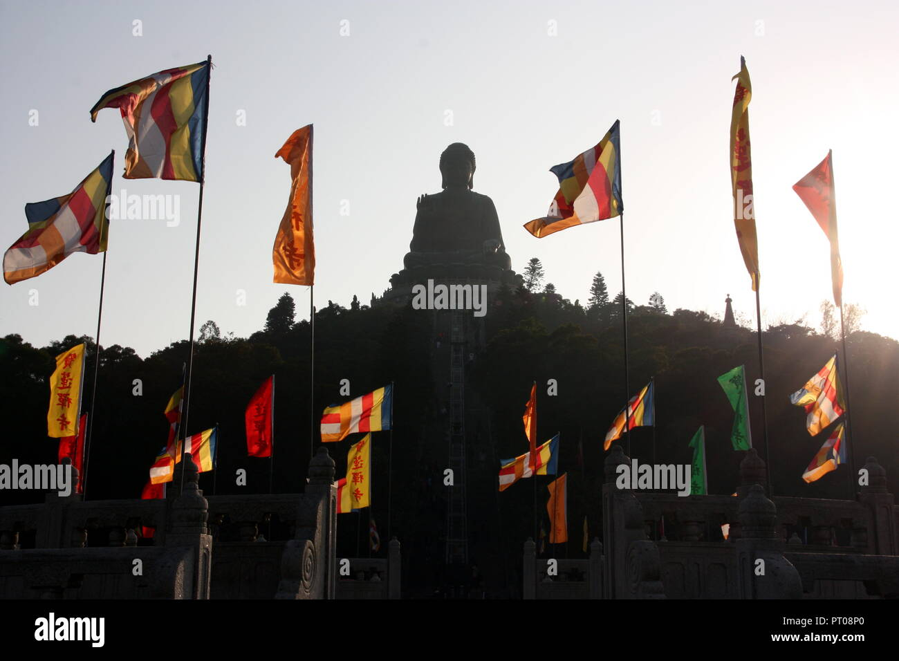 Tian Tan Buddha on Lantau island in Hong Kong - Stock Image