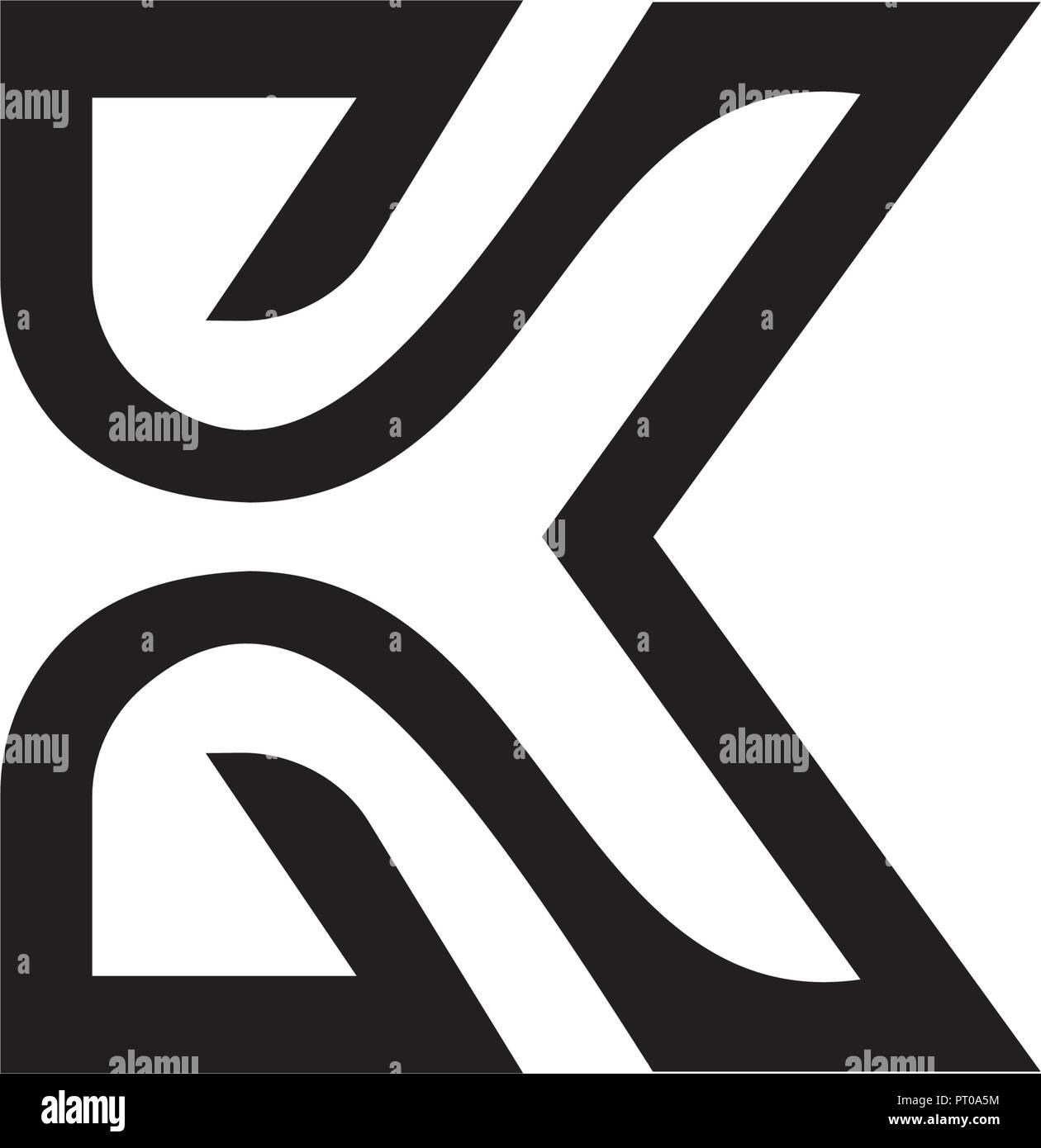 letter k logo design concept template stock vector art
