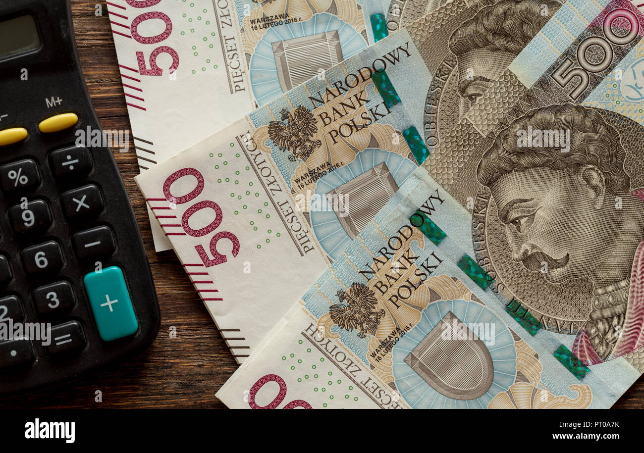 Polish money / zloty / the highest denomination - Stock Image