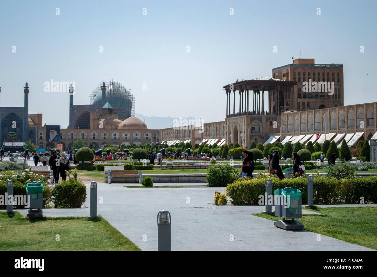 Imam Square in Isfahan, Iran Stock Photo