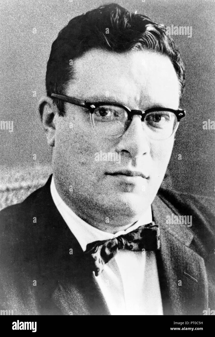 ISAAC ASIMOV (1920-1992) American science fiction writer and professor of biochemistry - Stock Image