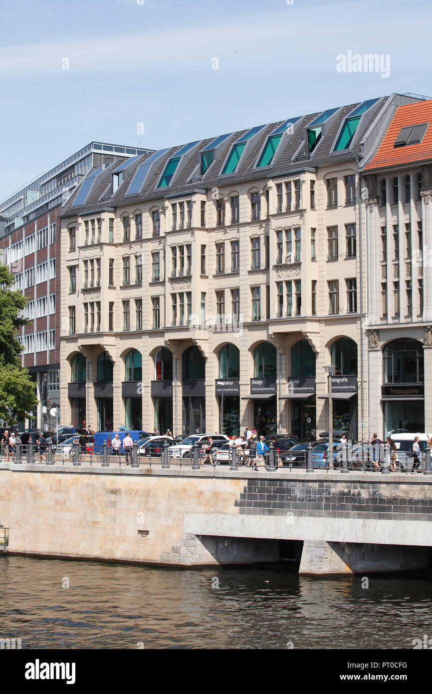 Faculty of Theology at the Humboldt University Berlin at Spree shore, Berlin, Germany, Europe - Stock Image