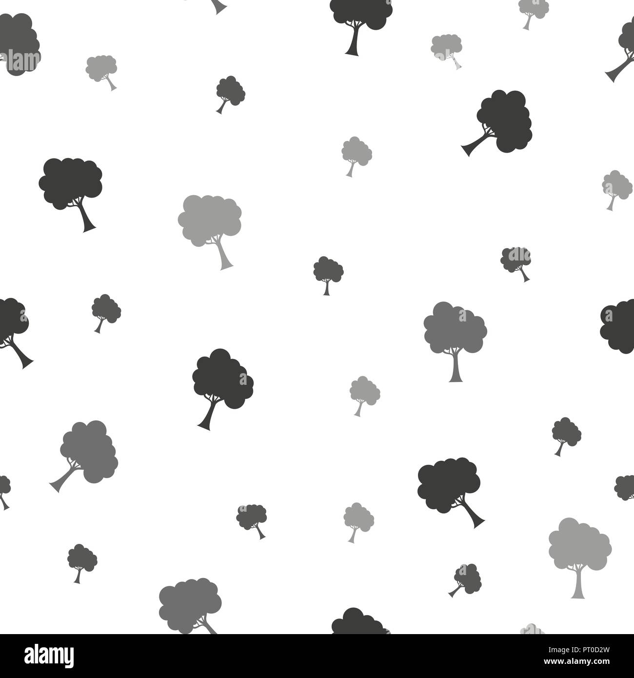 Birch Tree Seamless Pattern Vector Fabricdesign Element For Wallpapers Web Site Background Baby Shower Invitation Birthday Card Scrapbooking Fabric Print Etc Vector Illustration Stock Vector Image Art Alamy