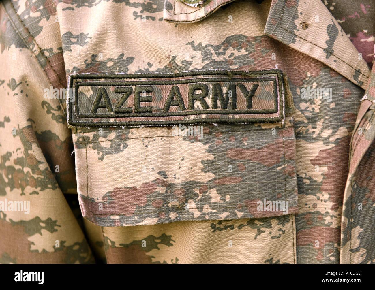 Azerbaijan military uniform. Azerbaijan Army - Stock Image