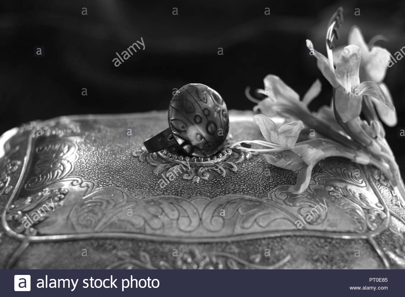 ARTISTIC COMPOSITION OF WOMEN'S JEWELLERY AND STYLE, ATHENS, GREECE Stock Photo