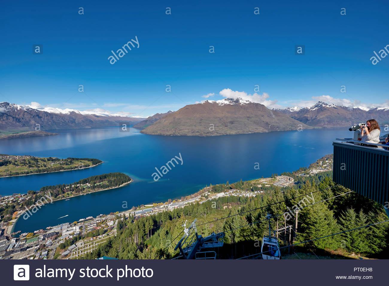Queenstown Lake Wakatipu. Otago New Zealand - Stock Image