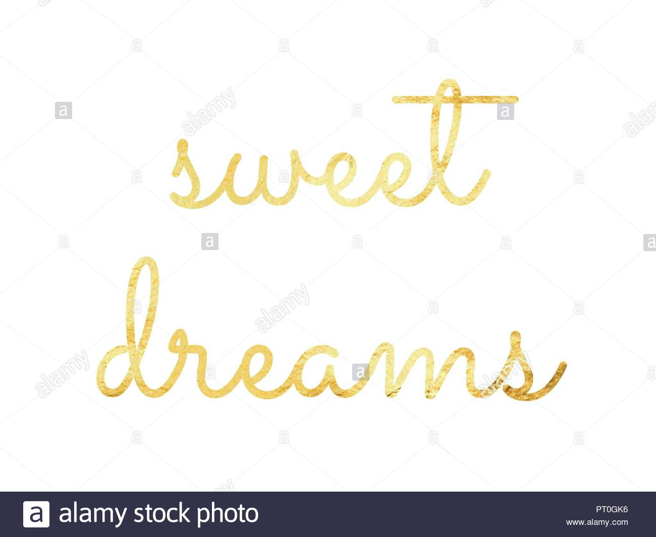 Sweet Dreams Hand Lettering Good Night Quote For T Shirt Graphics