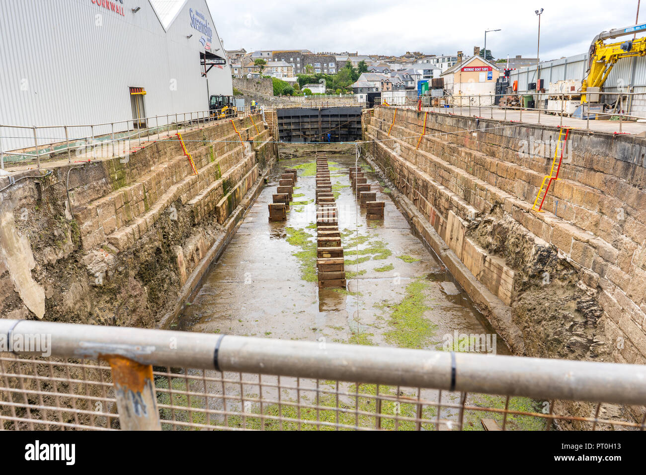 Penzance Dry Dock, St Ives, Cornwall - England - Stock Image
