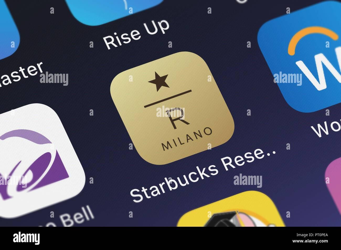 Starbucks Coffee App Stock Photos Starbucks Coffee App