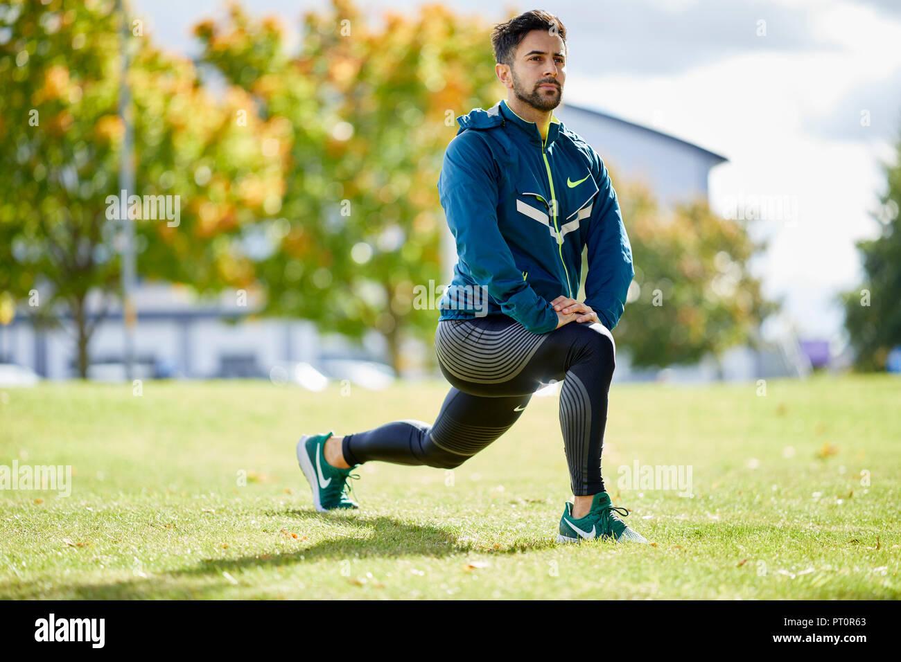 Man exercising - Stock Image