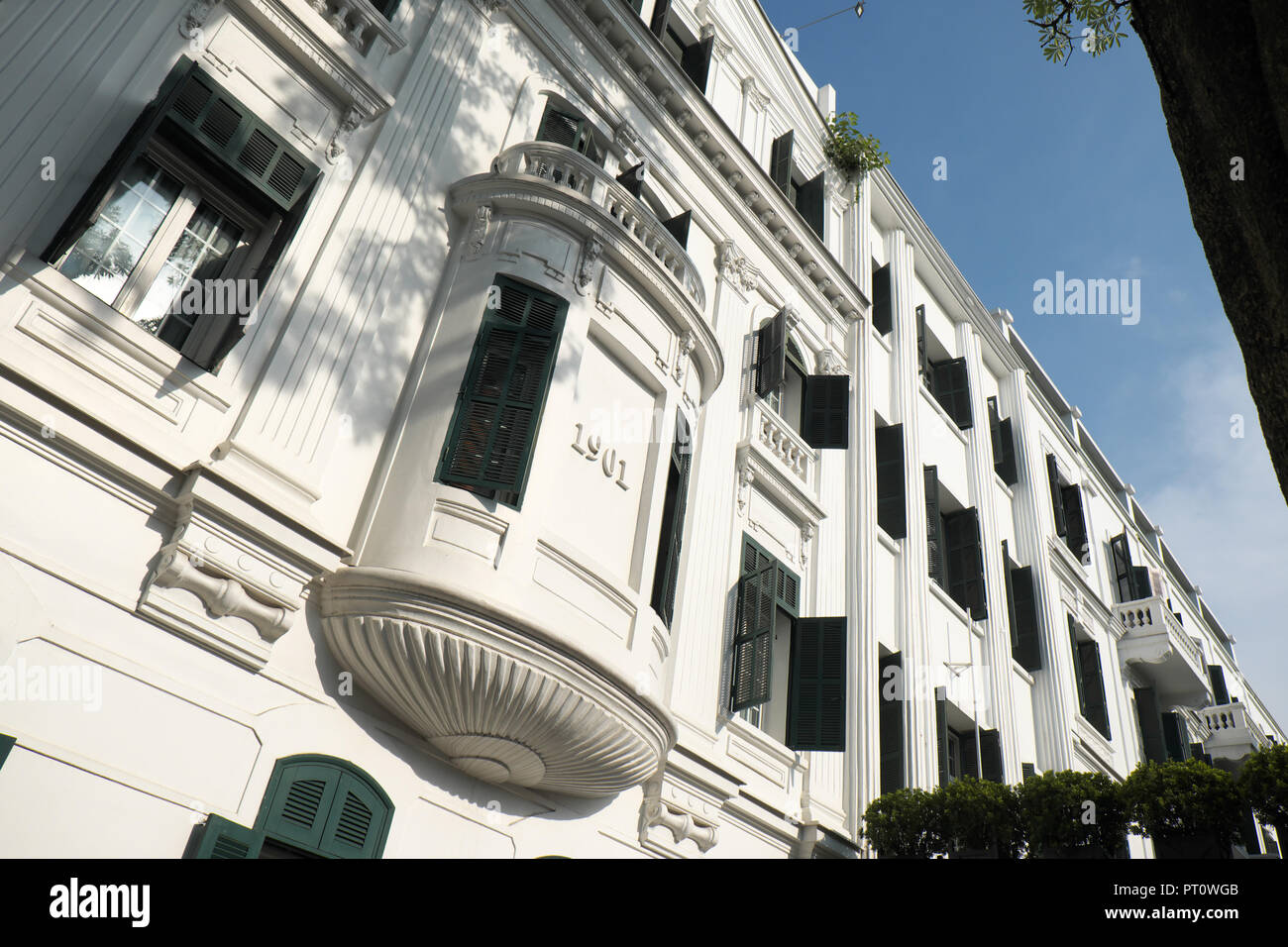 Hanoi Vietnam - the colonial built Hotel Metropole dates from 1901 - Stock Image