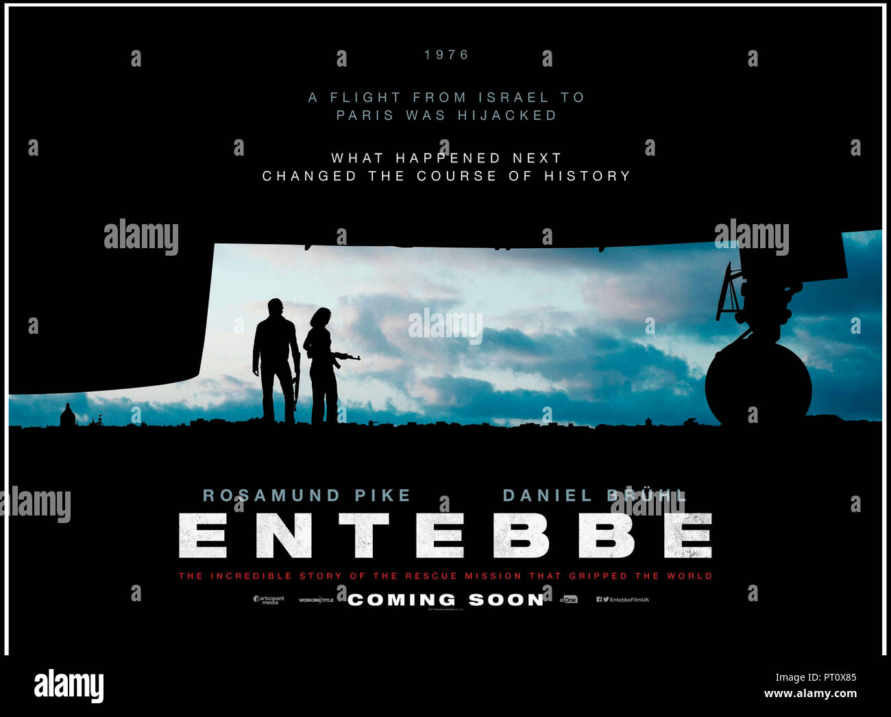 Prod DB © Participant Media - Pellikola - Working Title Films / DR OTAGES A ENTEBBE (ENTEBBE) de Jose Padilha 2018 GB/USA teaser anglais avec Rosamund - Stock Image