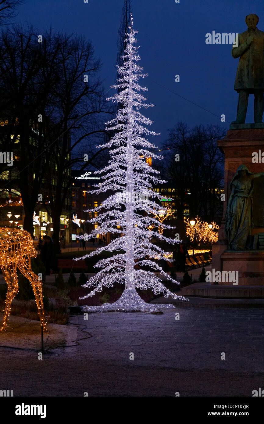 Finland Christmas Decorations.Helsinki Finland December 15 2016 Christmas Decorations