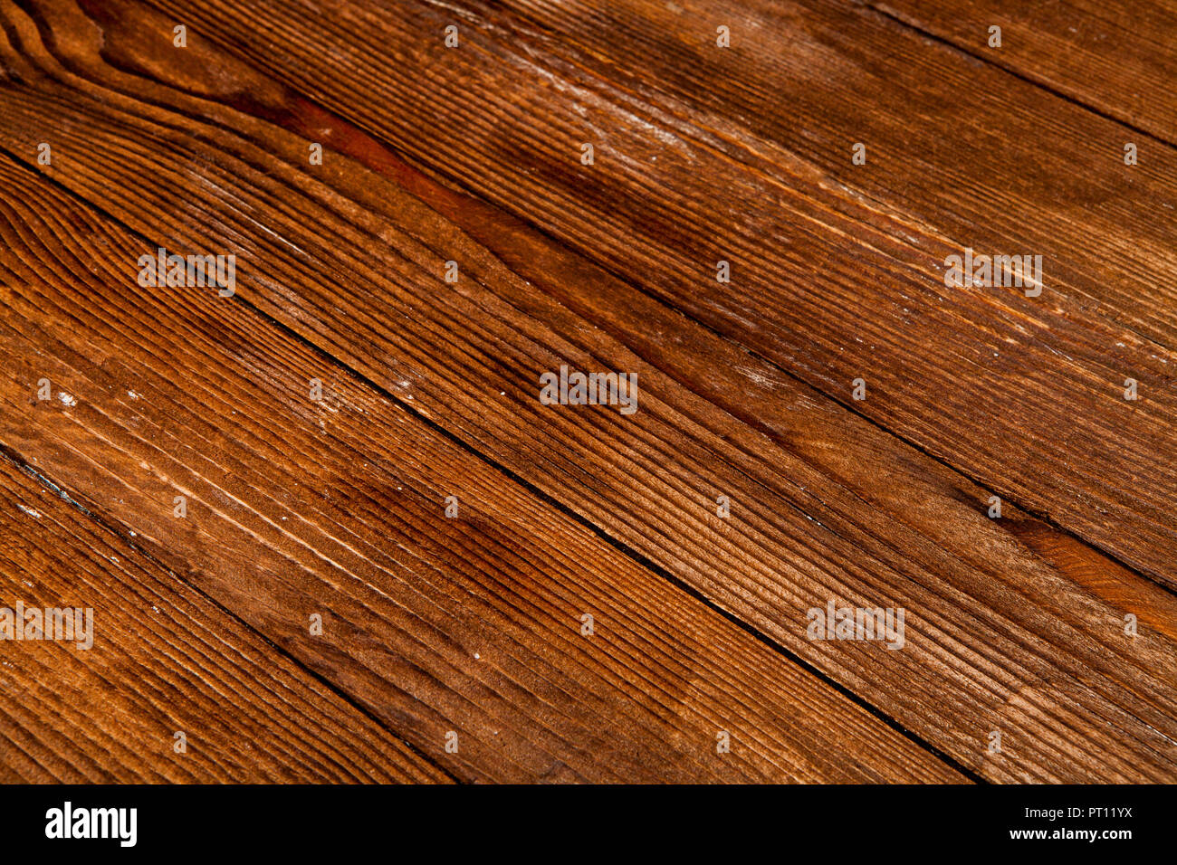 Dark wooden texture. Wood brown texture. Background old panels. Retro wooden table. Rustic background. Vintage colored surface. - Stock Image