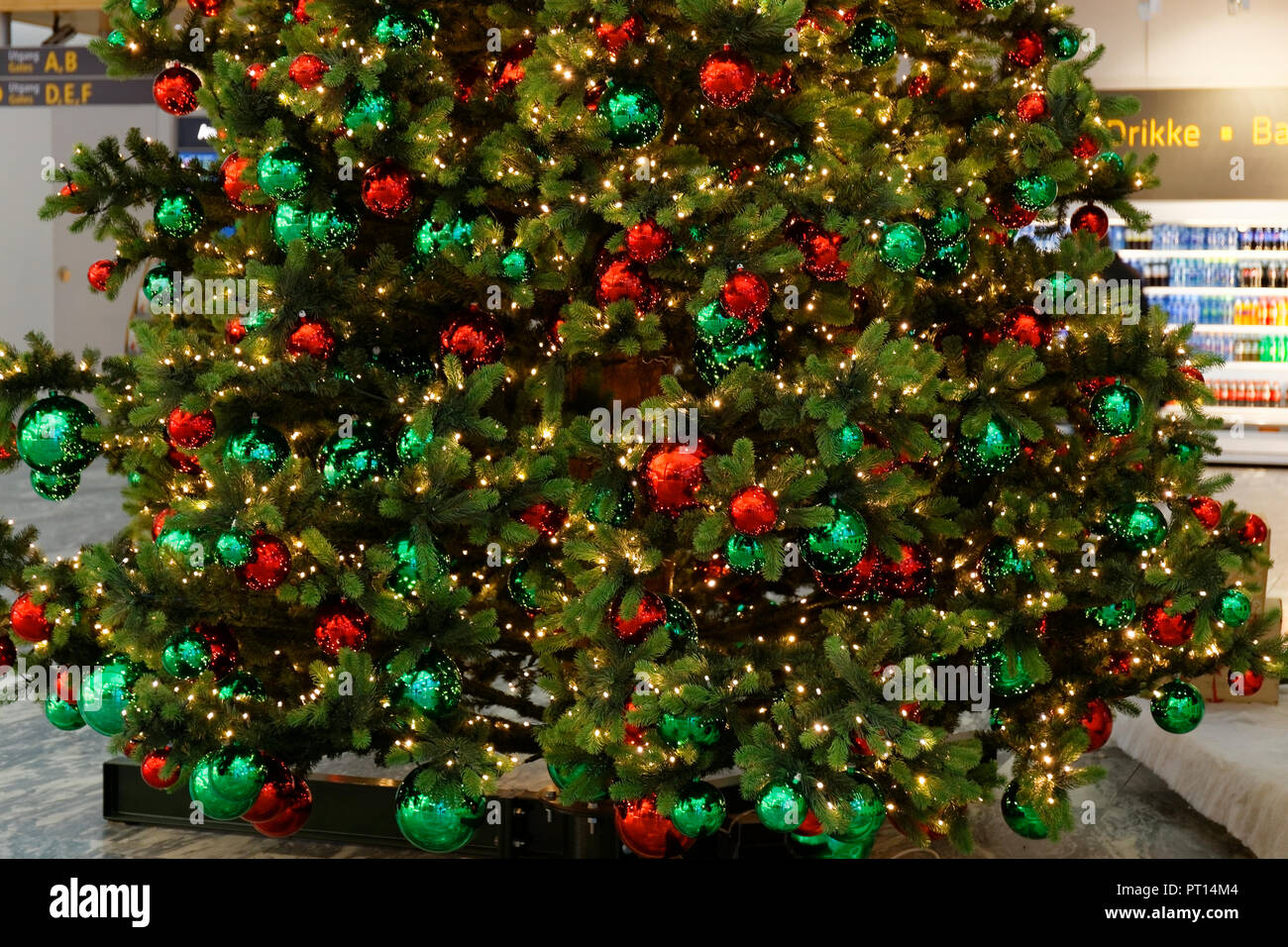 Decorated Christmas tree during Christmas celebrations, at Oslo ...