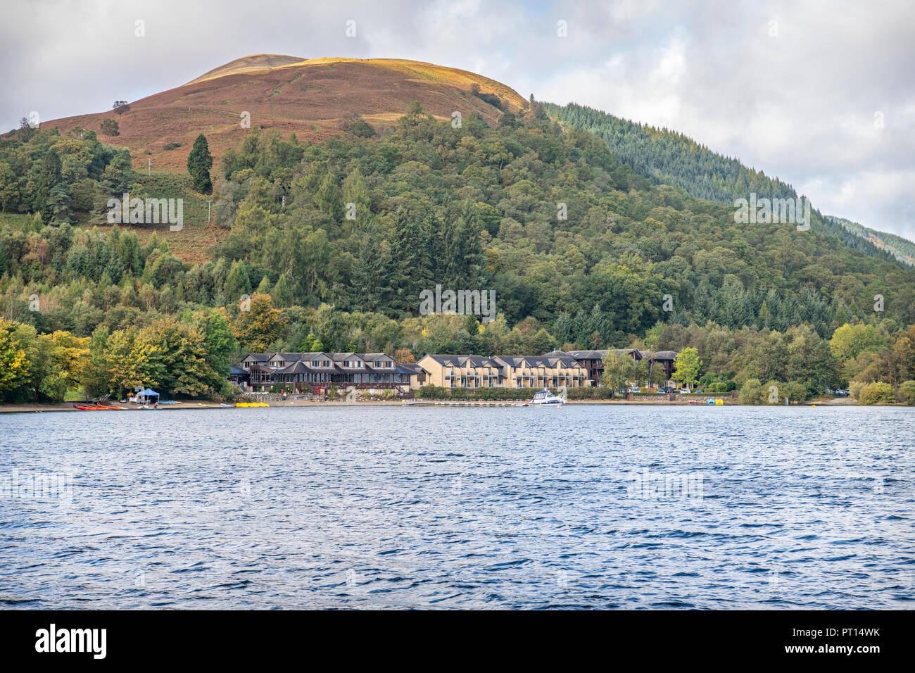 Luss from Loch Lomand, Scotland - Stock Image