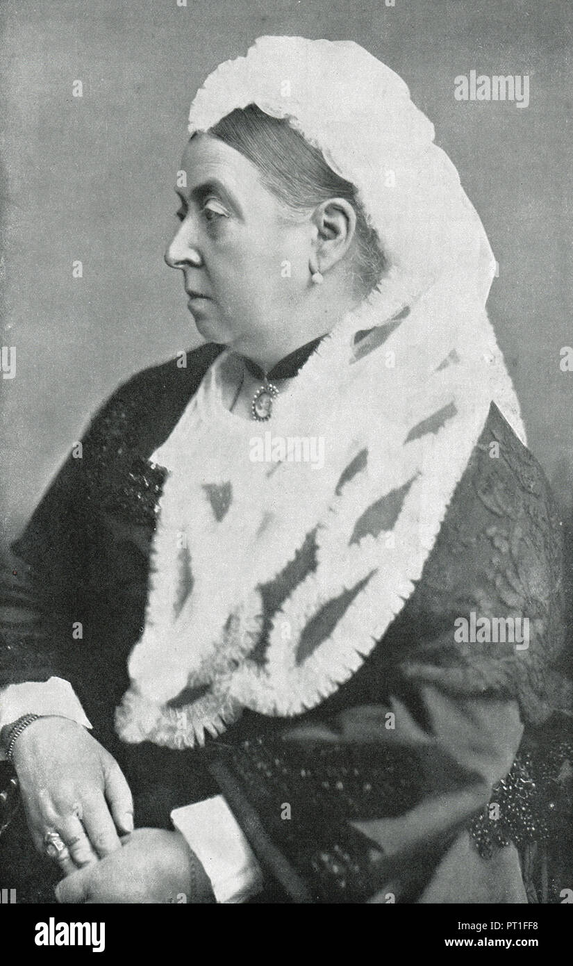 Queen Victoria at the age of 66 - Stock Image
