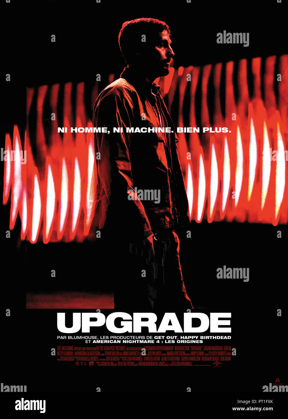Prod DB © Blumhouse Productions - Goalpost Pictures / DR UPGRADE de Leigh Whannell 2018 AUST. affiche française Logan Marshall-Green Melanie Vallejo B Stock Photo