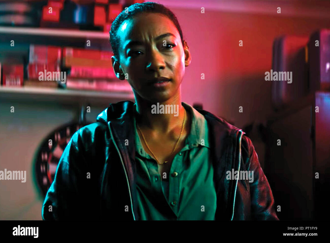 Prod DB © Blumhouse Productions - Goalpost Pictures / DR UPGRADE de Leigh Whannell 2018 AUST. Betty Gabriel. science fiction; sci-fi; - Stock Image