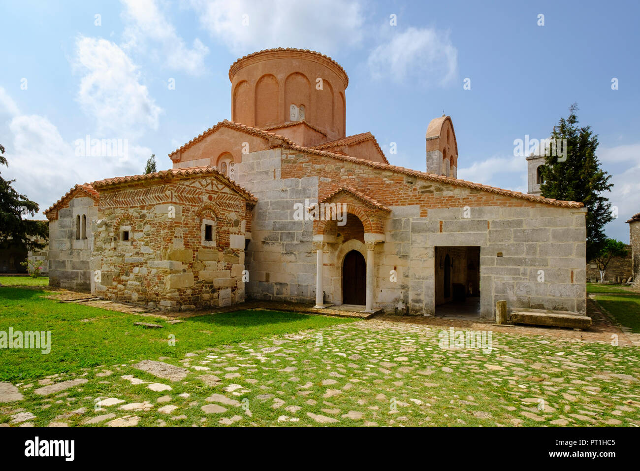Albania, Fier County, ancient city Apollonia, St. Mary's Church - Stock Image