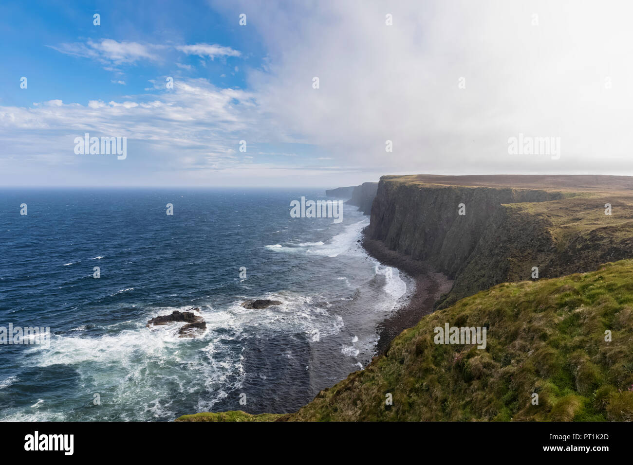 UK, Scotland, Caithness, Coast of Duncansby Head - Stock Image
